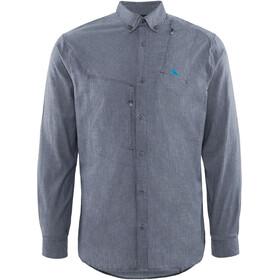 Klättermusen M's Lofn Shirt Storm Blue Melange